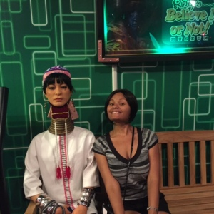 Pam & the Woman with the Long Neck (at Ripley's)