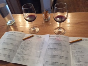 Wine Tasting Menu (Williamsburg Winery)